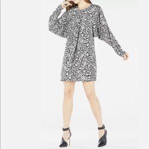 BCBG MAXAZRIA Ryleigh Ocelot Print Dress $338 1057